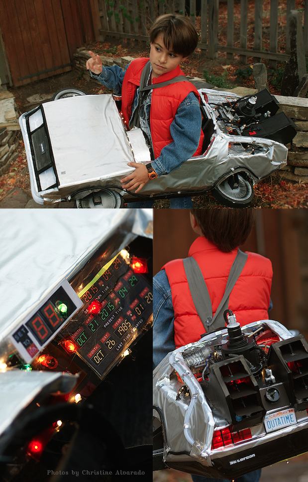 Marty McFly and the Delorean Costume